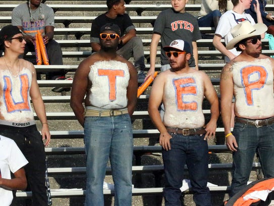UTEP fans show their pride Saturday in the Sun Bowl.