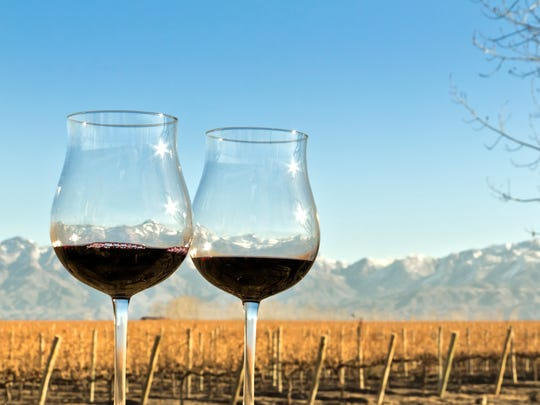 Red wine from Mendoza, Argentina.