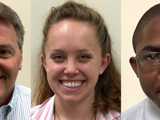 From left, George Sepic, Abigail Geiger and Thorne McFarlane, have join the York Daily Record Editorial Board.