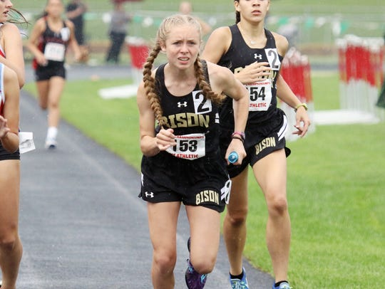 Buffalo Gap's Annika Fisher won the 1,000- and 3,200-meter