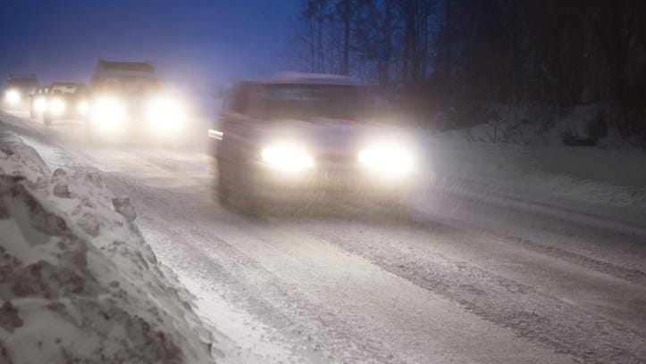 A winter storm is playing havoc with driving conditions