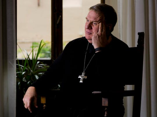 Cardinal-elect Joseph William Tobin poses for portraits during an interview with The Associated Press in Rome, Thursday, Nov. 17, 2016.