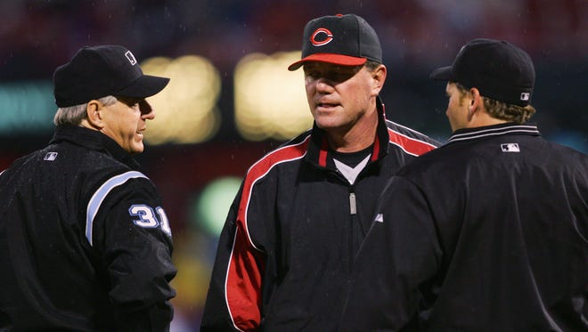 Former Cincinnati Reds manager Dave Miley is the head coach for Franklin County High School, which visits Richmond on Saturday.