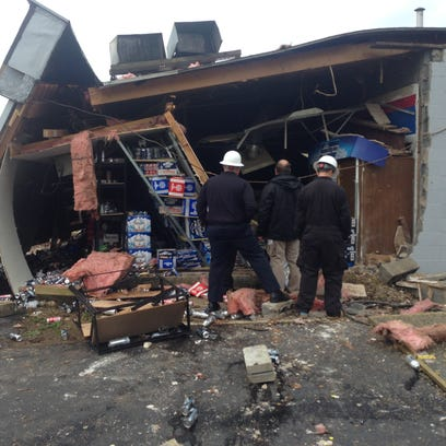 An early morning explosion blew out the back corner