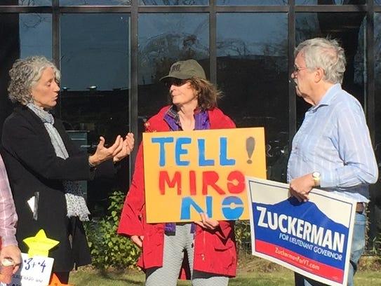 Poll-side persuasion in Burlington: Julie Campoli,