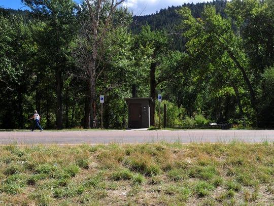The northbound rest area at mile marker 222 on I-15,