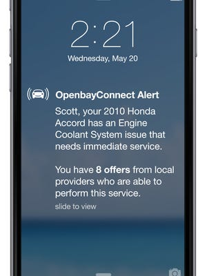 Openbay will notify drivers of problems that need service