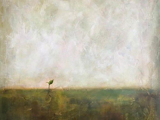 Sarasota artist Drew Noel Marin painted 'Rebirth' as