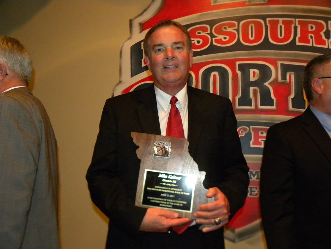 Former Glendale Boys basketball coach Mike Keltner was elected the Missouri Basketball Coaches Association Hall of Fame in 2013