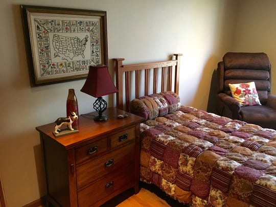 Guest rooms have a comfortable, home-like feel at the