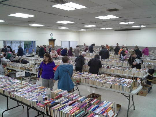 "​​​​​​​Stayton Fall Used Book Sale: Over 10,000 books sorted into 42 categories plus DVDs and CDs, 5 to 8 p.m. ""Early Bird Night"" Thursday, 9 a.m. to 7 p.m. Friday, 9 a.m. to 4 p.m. Saturday, Stayton Community Center, 400 W Virginia St., Stayton. Pricing varies each day."