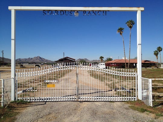 The 10-acre property, called Stardust Ranch, was featured