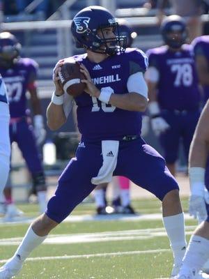 Stonehill College quarterback Anton Stoneking.