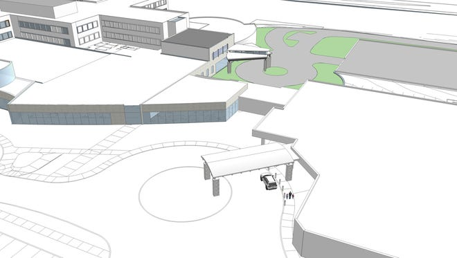 An artist's rendering of what Mercy Health-Fairfield Hospital will look like in the fall after a $14 million renovation
