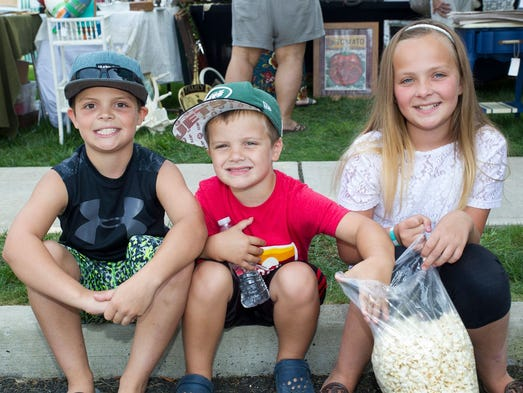 Dylan, Aiden, Riley. Westwood hosted its annual Crafts