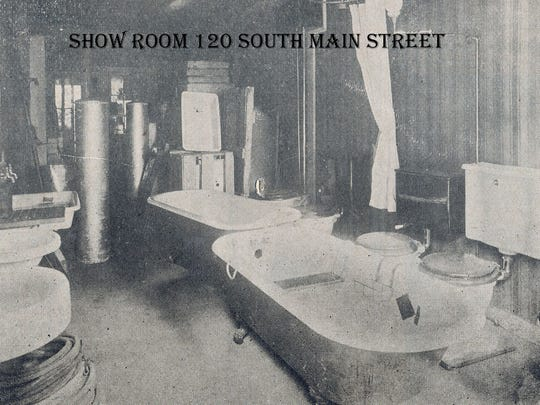 Edward Metz's show room located at 120 South Main Street in Chambersburg. This building still stands today and is occupied by a restaurant.