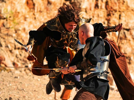 "An action scene is shown from ""Song of the Starslayer,"" a fantasy movie shot in New Mexico. The film makes its New Mexico debut Friday evening in Las Cruces."