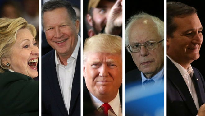 All five presidential hopefuls visited the Rochester area.