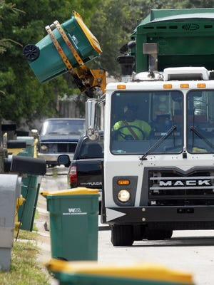 Garbage collection may be delayed in some areas because of the unusually large amount of trash some people are putting out at curbside, congested traffic in some areas and inoperative traffic signals.