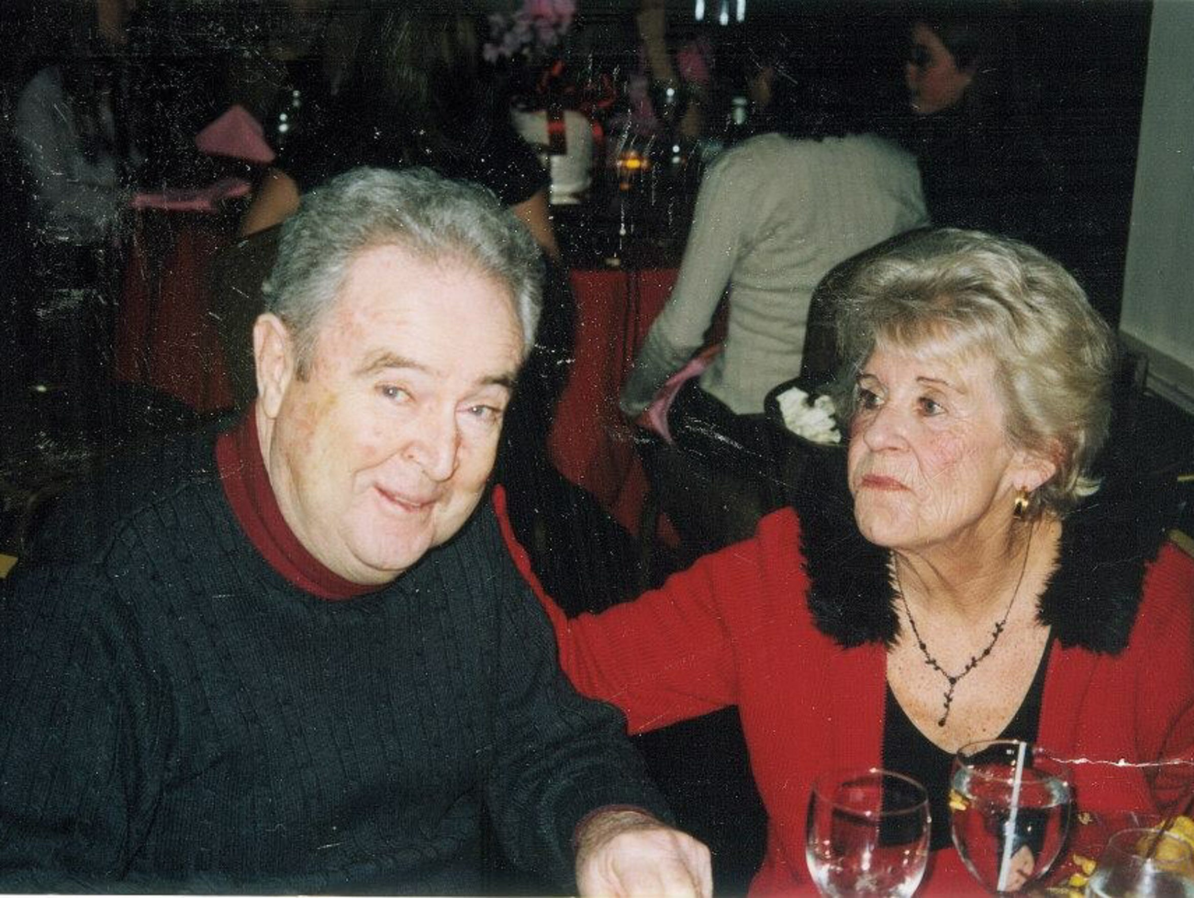 Edward Friel, left, and his wife, owned a family cabinetry
