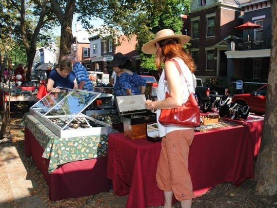 Browse antiques and collectibles for sale along MainStrasse's