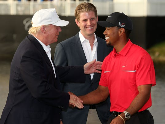 tiger woods playing golf with president