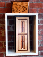 Handmade wooden boxes by Phil Conlon.