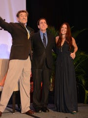 Dr. Hans Diehl, left, joins medical guru Dr. Dean Ornish and his wife, Anne, at the American College of Lifestyle Medicine's 2016 conference at the Naples Grande Resort.
