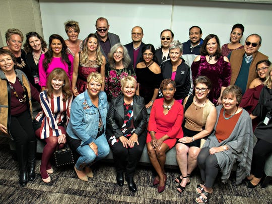 All of the models of the Lord and Taylor In The Pink Fashion Show. From left: (top row) Joanne Scafidi, Tony Scafidi, Dr. Firas Eladoumikdachi, Dr. Peter Yi, Dr. Neel Gandhi, Patrice Yannessa; (middle row) Beverly Pounder, Kim Wright, Jennifer Almeida, Maureen Conway, Susan Lichtig, Priya Pamnani, Mary Komjathy, Mayra Ortiz, Dr. Enrique Alvarez; and (bottom row) Roberta Gernhardt, Alison Babula, Romana Deutsch, Kathy Domareckyj, Myriam Folkes, Oliva Vanwagner, Regina Gramer, Kavita Pamnani and Cynthia Pinelli.