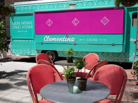 Clementina is a food truck and shipping container bar at Capitol Park