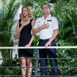 """Tricia Helfer, left, who starred in one of Syfy's early hits, """"Battlestar Galactica,"""" is back on board for """"Ascension,"""" co-starring """"Cougar Town"""" alumnus Brian Van Holt."""