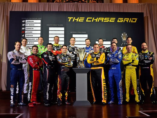The 16 drivers that are contesting the 2015 Chase for