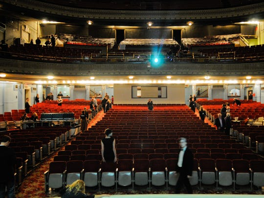 A view of the Emery Theatre from the stage