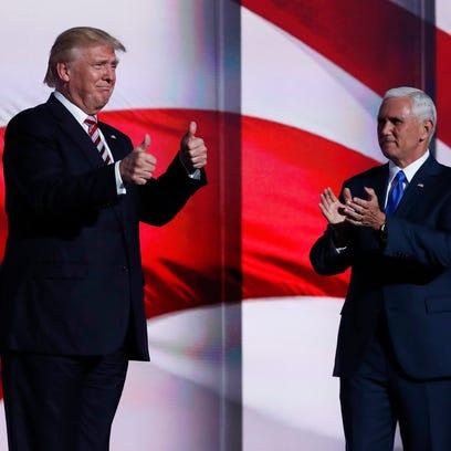 Republican Presidential nominee Donald Trump arrives