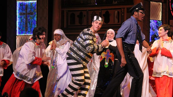 """Archbishop Stepinac's production of """"Sister Act"""" is nominated for 14 Metro Awards, including for outstanding overall production."""