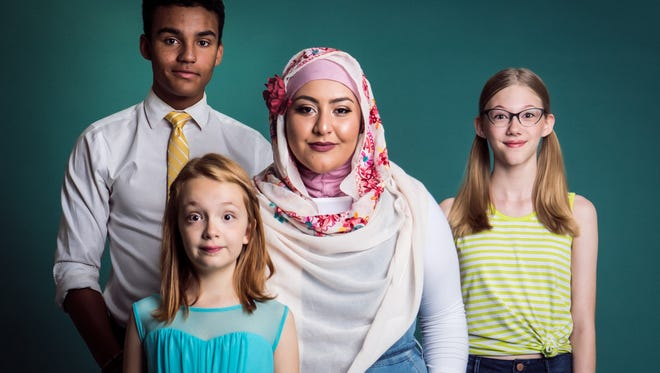 """""""If I Were You"""" includes Bella Higginbotham, front, then back row, from left,  Tristan Whitney, Yasamine Mousavi and Hannah Trauscht (in glasses)."""