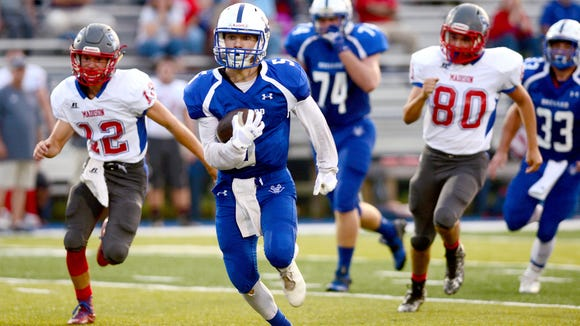 Lane Pressley (5) and Brevard travel to North Henderson