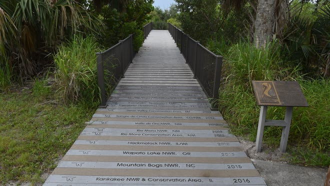 The boardwalk at Pelican Island, the first National Wildlife Refuge. The Historic Jungle Trail, a bit of old Florida in Indian River County, the Jones Pier, the oldest pier in Indian River County, and Pelican Island, the first national wildlife refuge, all interconnected within this scenic road off A1A in northern Indian River County.