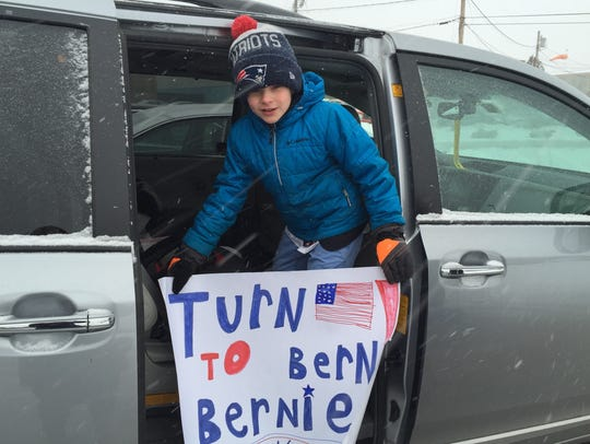 James DeFilippi, 8, of Swampscott, Massachusetts, shows