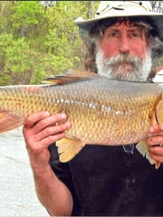 Mike Elwood of Burlington landed a Vermont record redhorse