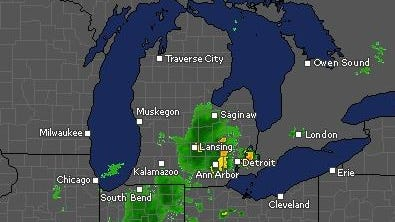 According to the National Weather Service, one to two inches of rainfall is spreading across the area.