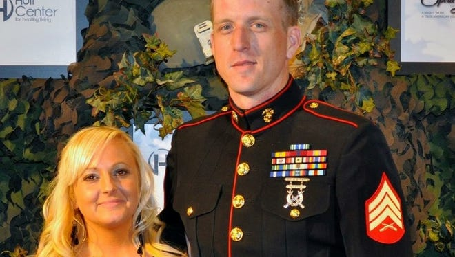 Kristine Nichols, left, is the partner of Brandon Ketchum. Ketchum, who served in Iraq and Afghanistan, killed himself in the early hours of July 8, at age 33