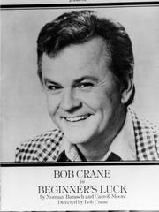 """Advertisement featuring actor Bob Crane in """"Beginner's Luck."""" He was beaten to death in a Scottsdale apartment."""