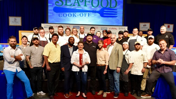 A dozen chefs from across the state competed Tuesday