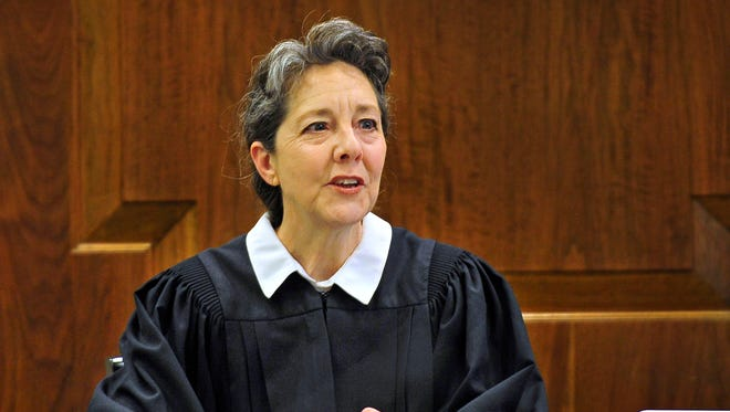 Davidson County Chancellor Ellen Hobbs Lyle presides during a trial in Nashville on Friday, May 1, 2015. She is presiding over a case involving owner David Freeman's lawsuit against the Nashville Predators.