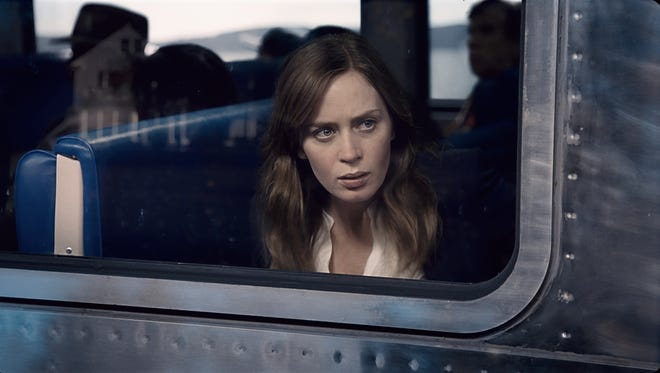 """The Girl on the Train,"" stars Emily Blunt, whose character Rachel Watson sees something shocking on her daily commute."