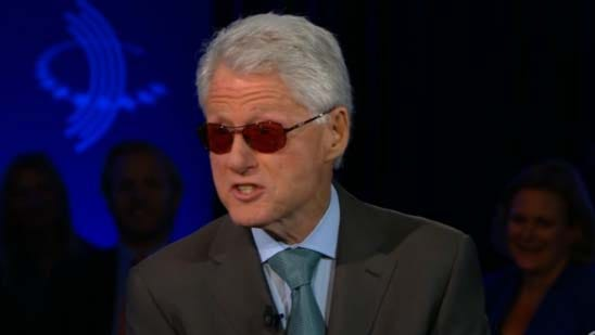 Bill Clinton impersonated Bono on Wednesday's 'Piers Morgan Live' on CNN.