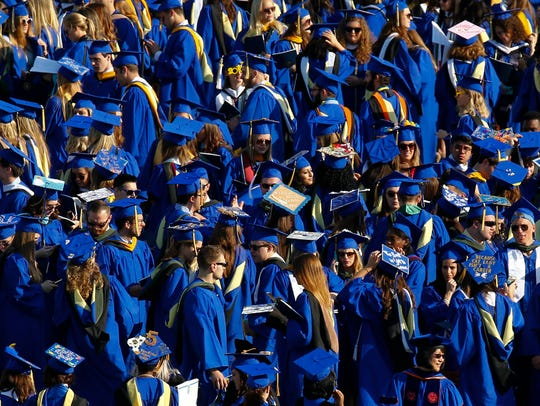 About 23,000 people attend the University of Delaware's commencement ceremony each year.