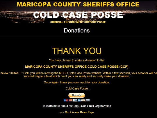 A screen capture from the website of the Maricopa County