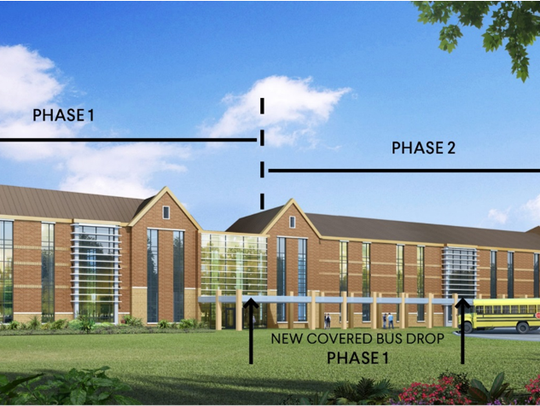 A rendering of a renovated Page Middle School.